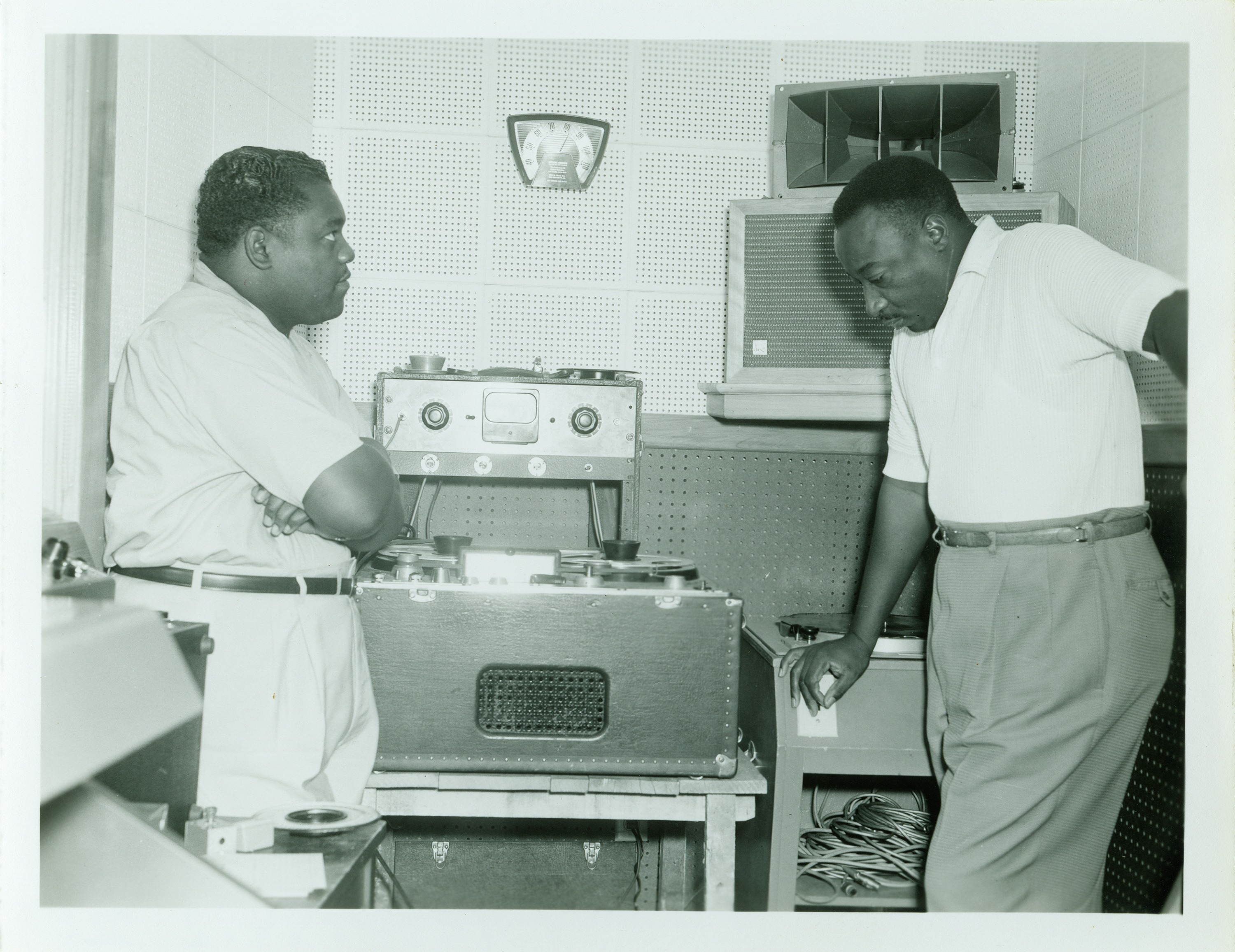 Fats Domino and Dave Bartholomew, August 8, 1957. Photo by Franck-Bertacci Studio. Courtesy of the Charles L. Franck Studio Collection at The Historic New Orleans Collection.
