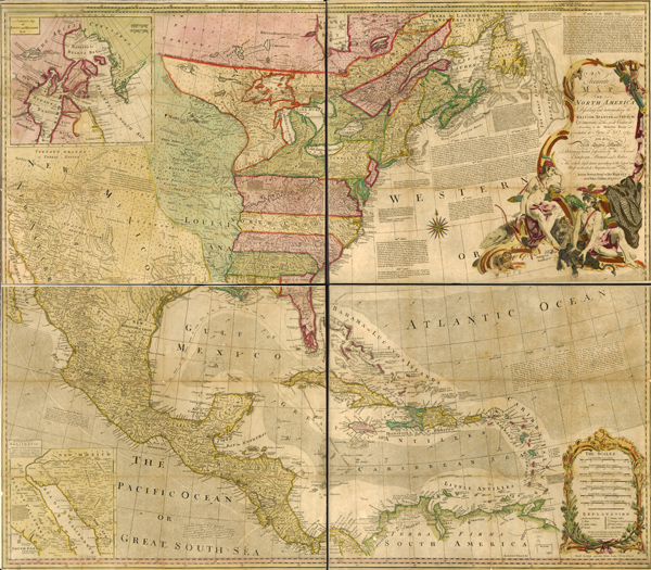 1763 Map of North America