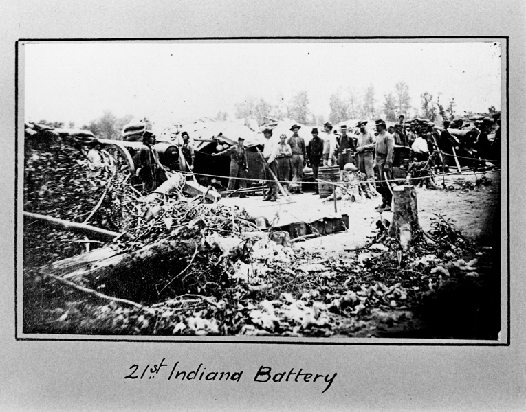 """21st Indiana battery in Port Hudson Louisiana during Civil War"""