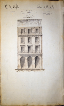 J.N.B. de Pouilly's sketch for 514 Chartres