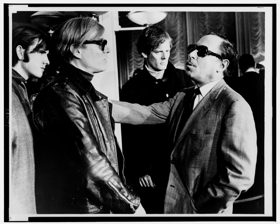 Tennessee Williams with Andy Warhol