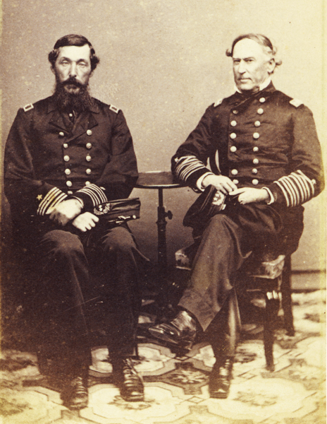 Admiral David Farragut & Commodore Percival Drayton