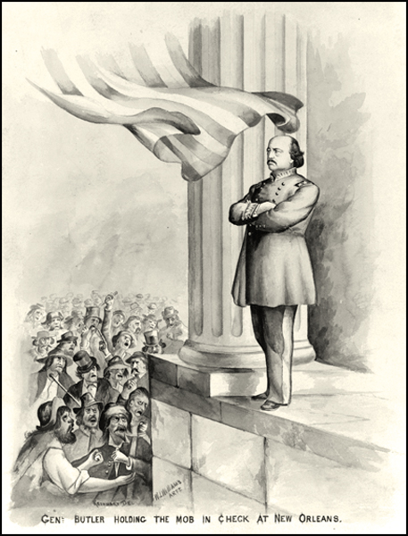 General Butler Holding the Mob in Check at New Orleans