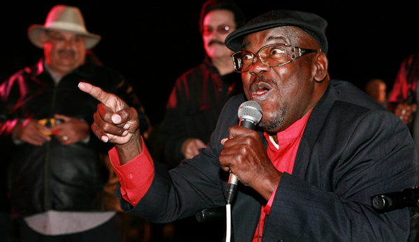 "Clarence ""Frogman"" Henry performing at the Cabildo in 2010"