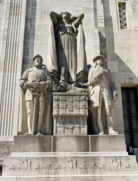 Left Exterior Sculpture at the Louisiana State Capitol