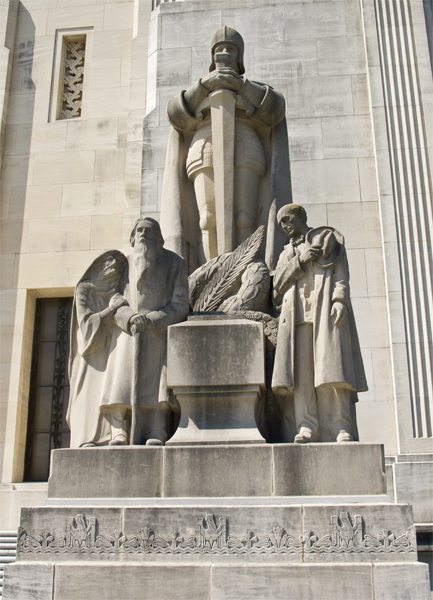 Right Exterior Sculpture at the Louisiana State Capitol