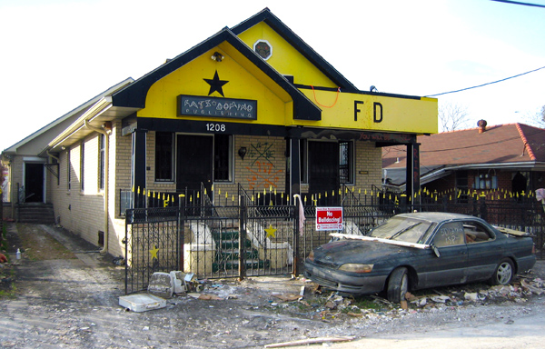 Fats Domino office and home complex Lower 9th Ward after Katrina