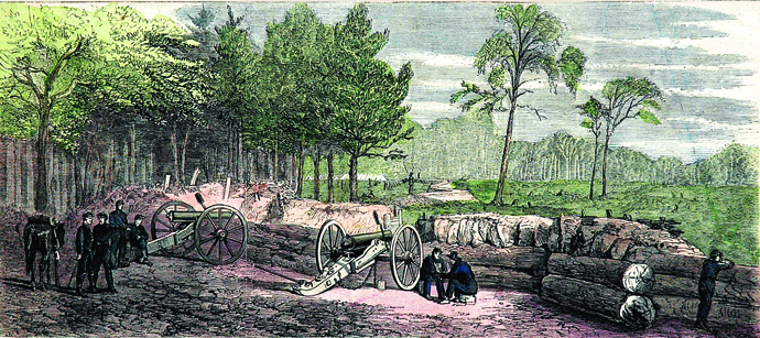 """""""Fortifications at Grand Ecore, Guarded by The First Missouri Battery"""""""