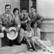 Governor Huey Long with his children and nephew and niece in Baton Rouge in the 1930s