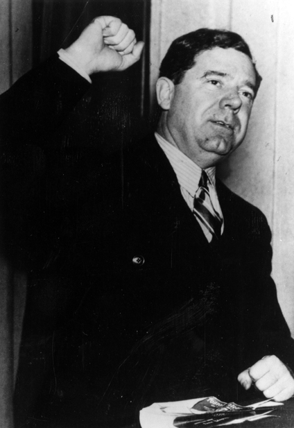 Huey Long during a Washington DC radio broadcast