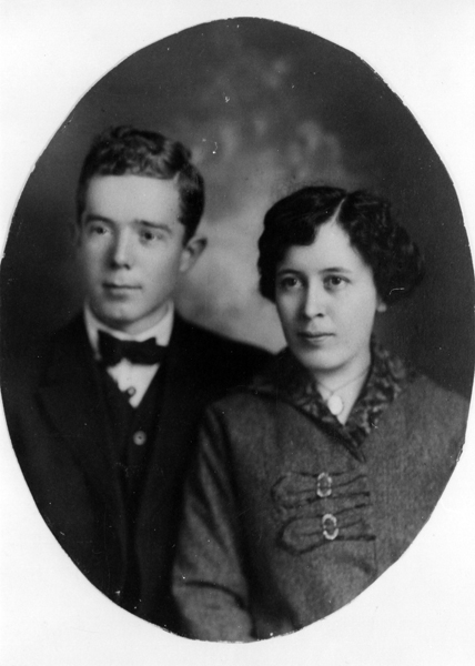 Huey Pierce Long and His Wife Rose McConnell Long at the Time of Their Marriage in 1913