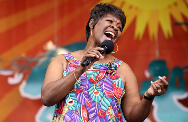 Irma Thomas performing at the The New Orleans Jazz and Heritage Festival in 2007