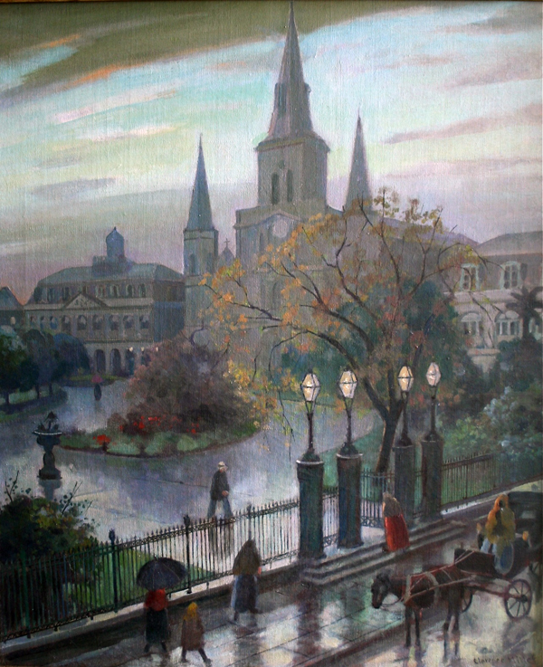 Jackson Square in the Rain