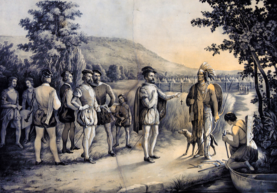 """""""Jacques Cartier: His First Interview with the Indians at Hochelaga"""""""