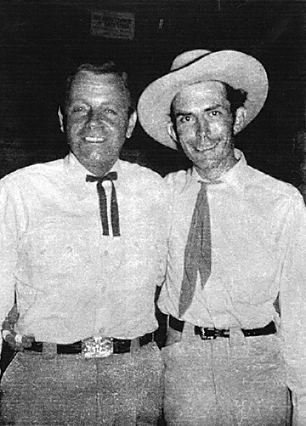 Jimmie Davis and Hank Williams at the Louisiana Hayride