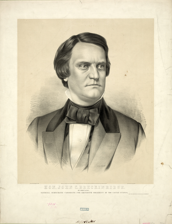 """John C. Breckinridge"" by Currier & Ives"