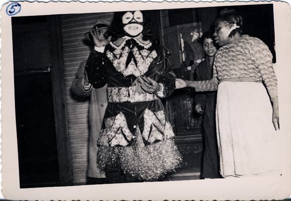 Louis Armstrong as King of Zulu on Mardi Gras, 1949