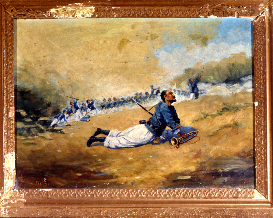 """Louisiana Civil War Zouaves on the Battlefield"""
