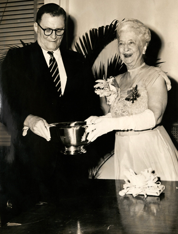 Martha Gilmore Robinson, receiving the Times Picayune Loving Cup Award.