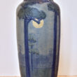 Newcomb College Matte Glaze Vase with St.Tammany Pines and Moon