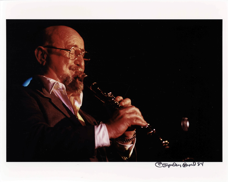 Pete Fountain playing the clarinet