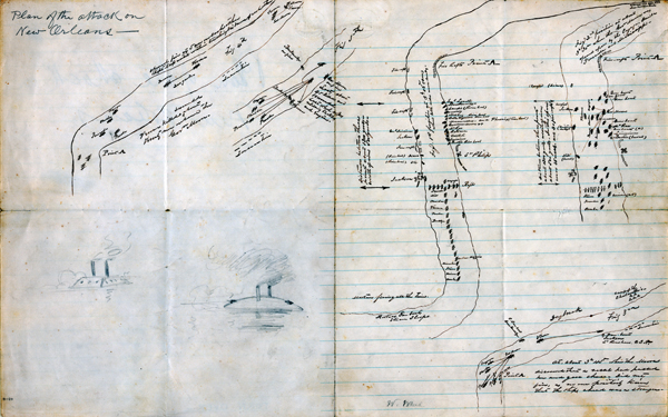 Plan of an attack on New Orleans