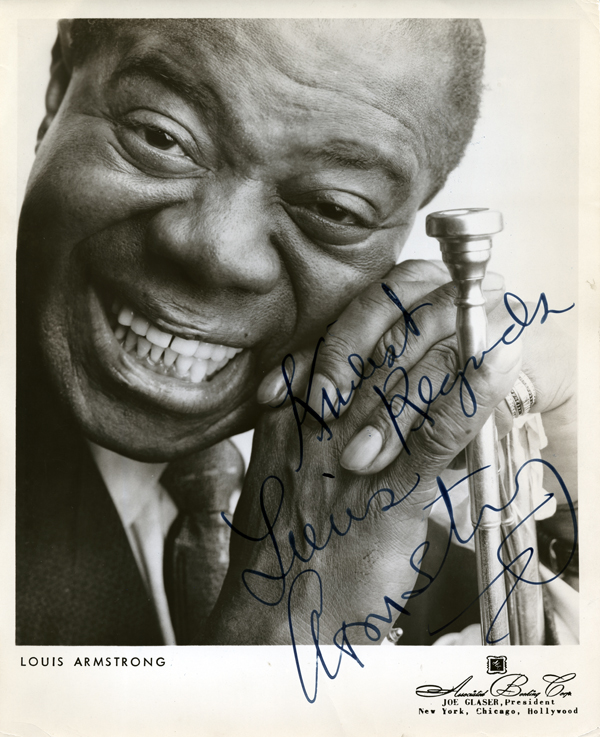 Signed Picture of Louis Armstrong