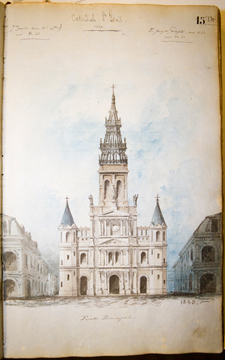 J.N.B. de Pouilly Rendering of Saint Louis Cathedral
