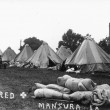 Tent city for refugees at Mansura, during the 1927 flood