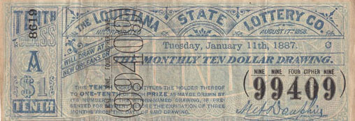 The Louisiana State Lottery Co. ticket
