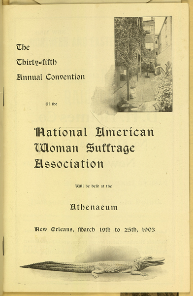 The Thirty-Fifth Annual Convention of the National American Woman Suffrage Association