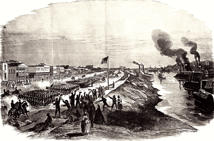 """""""Triumphant Entry of the Union Army in Alexandria"""""""