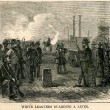 """White Leaguers Guarding a Levee"""