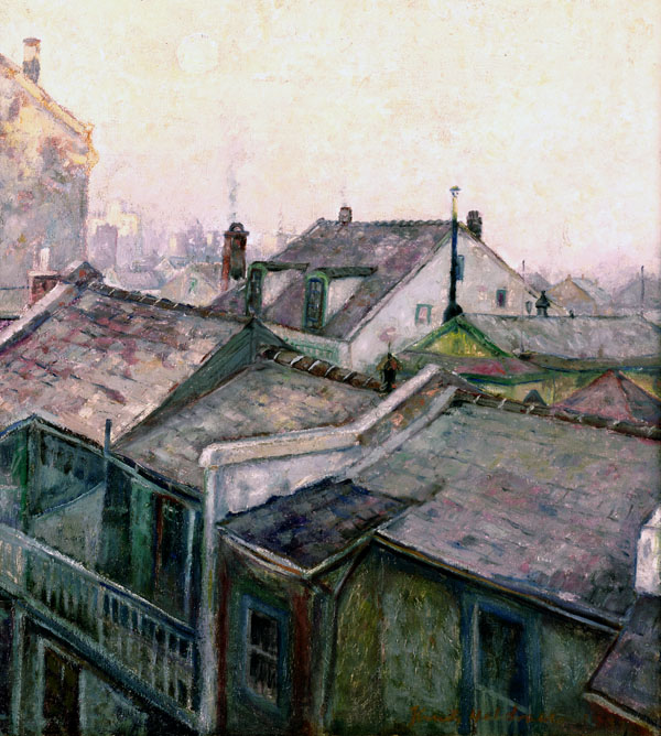 French Quarter Roof Tops from His Studio