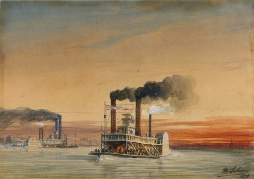 Steamboats on the Mississippi at New Orleans