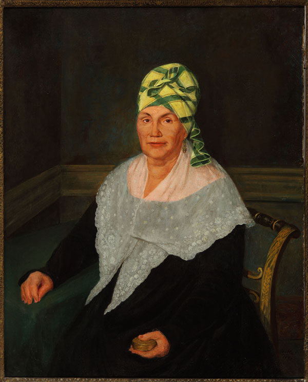 Portrait of a Free Woman of Color Wearing a Tignon