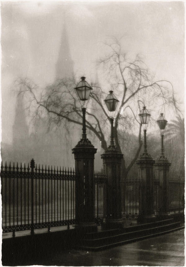 A Foggy Morning in the Place d'Armes