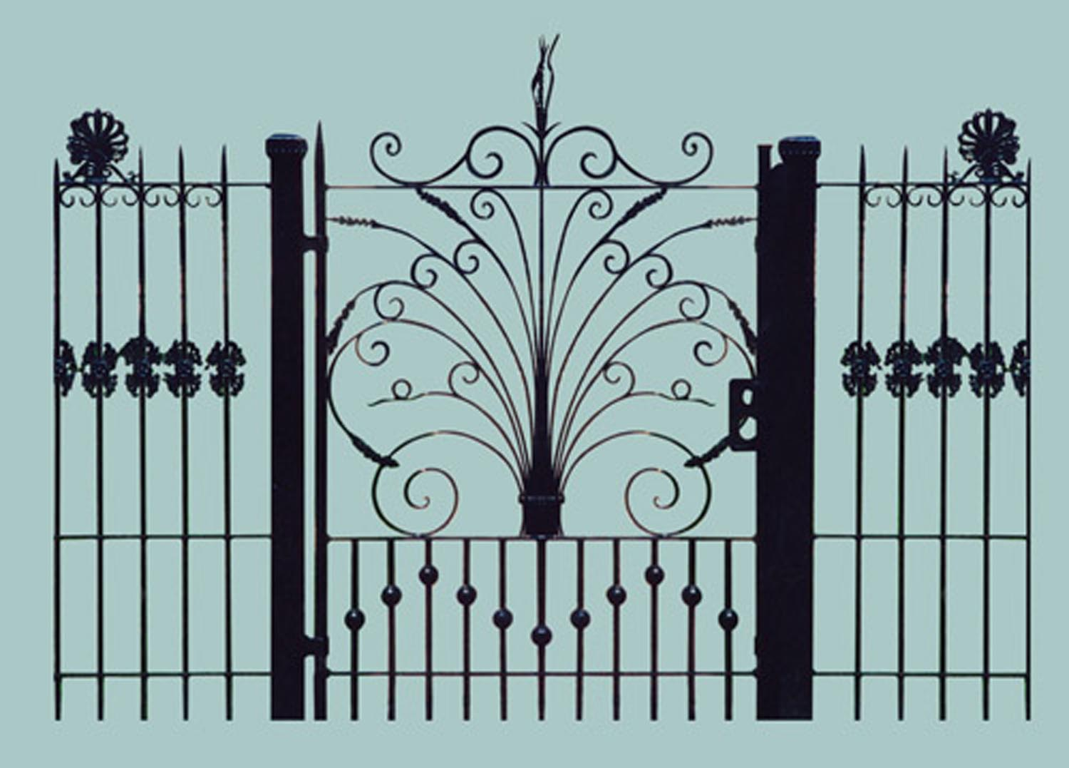 Hand Forged Iron Gate
