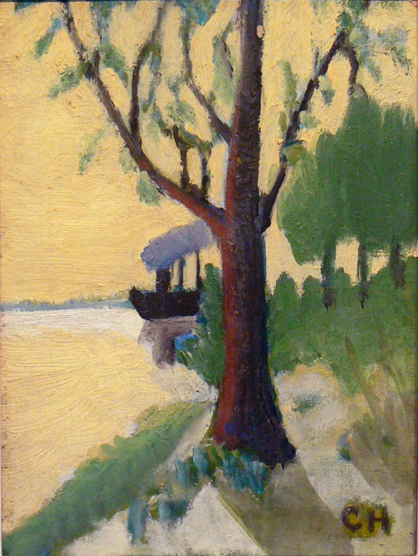 Untitled (Boat on River)