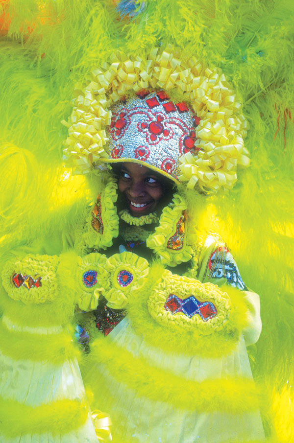 Mardi Gras Indian Girl