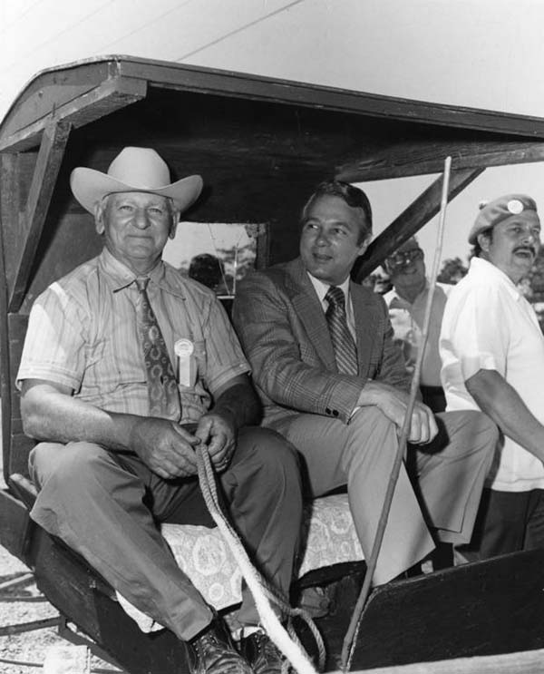 Governor Edwin Edwards in a Buggy