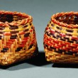 Two Chitimacha Single Weave Baskets