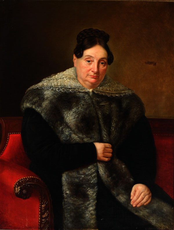 Portrait of a Creole Gentlewoman in a Lace Collar and Chinchilla Tippet