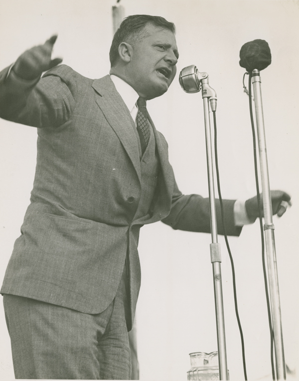 Earl Long Delivering a Speech