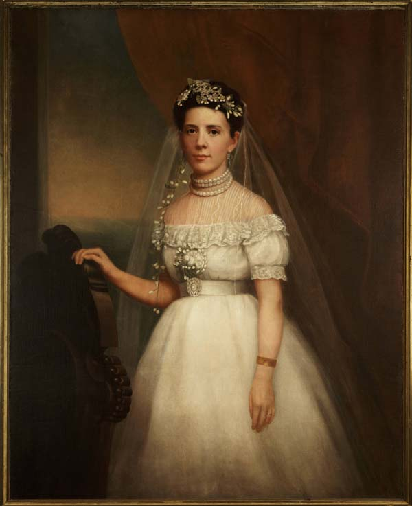 Portrait of Ernestine Sabourin of New Orleans on Her Wedding Day