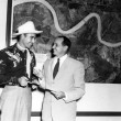 Johnny Horton and Mayor Chep Morrison