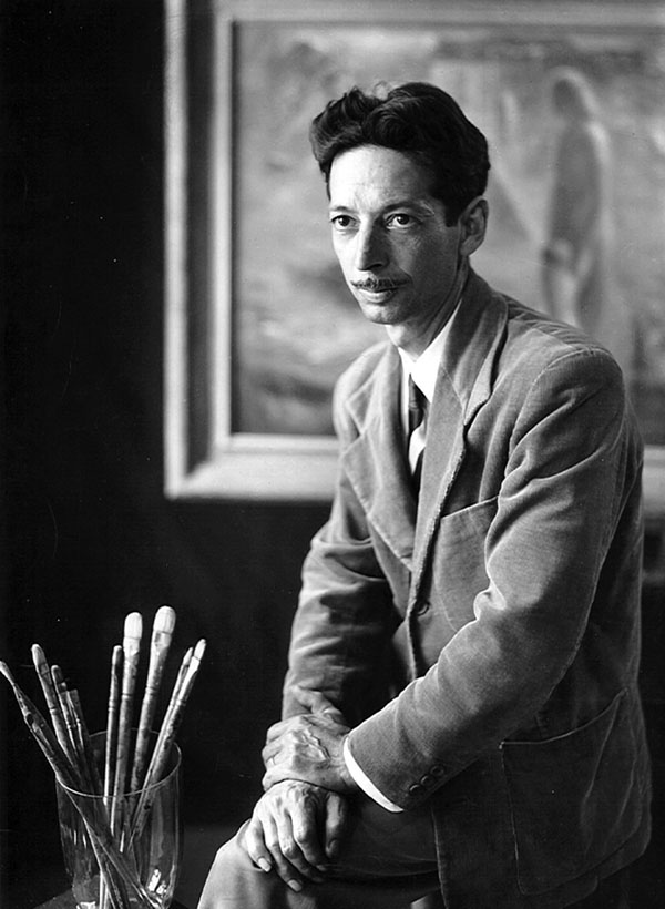 Charles Reinike with Brushes