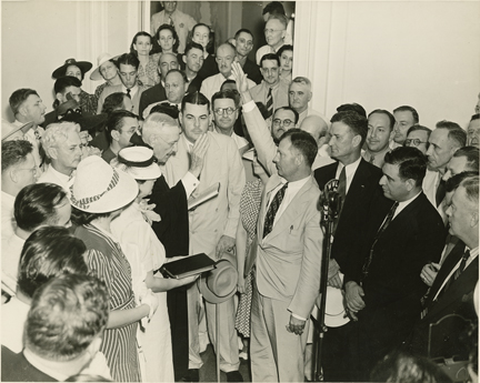 Swearing in Earl K. Long as the Governor of Louisiana