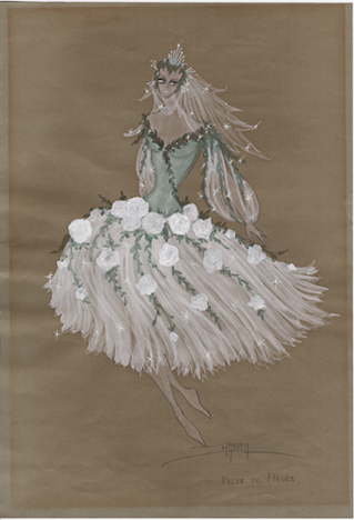 Sketch of a Waltz of Flowers Costume