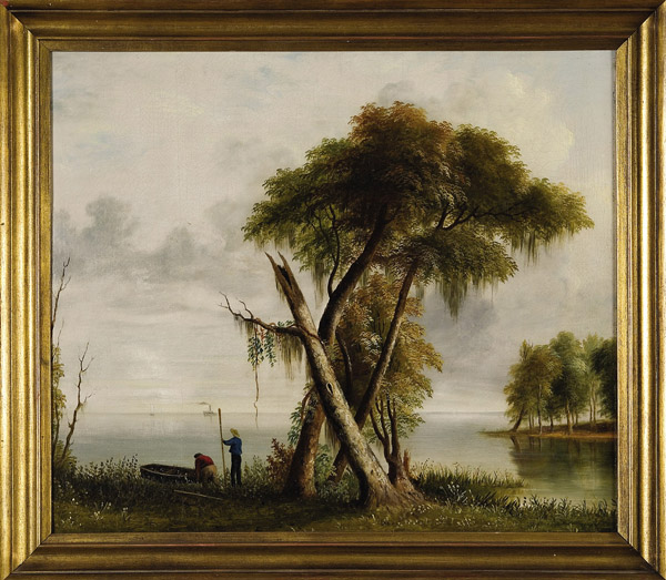 Mississippi Panorama: Boaters along the Shore
